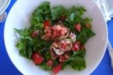 organic garden salad at Round Hill