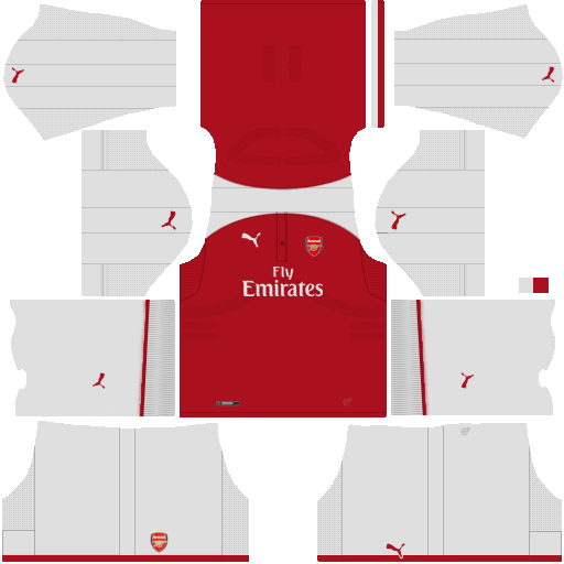 Arsenal Home Kit Dream League Soccer