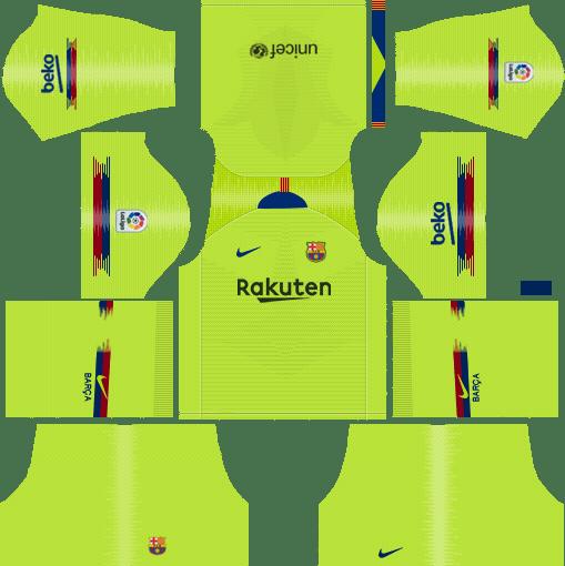 Barcelona 2018-2019 Kits & Logo (and older kits) - Dream ...