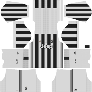 Juventus Home Kit Dream League Soccer 2017 - 2018