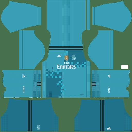 Real Madrid Third Kit 2017/2018 DLS