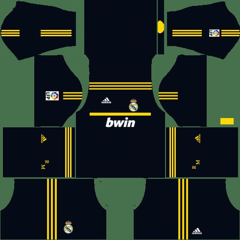 Real Madrid Goalkeeper Away Kit 2011-2012