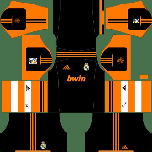 Real Madrid Goalkeeper Away Kit 2012-2013