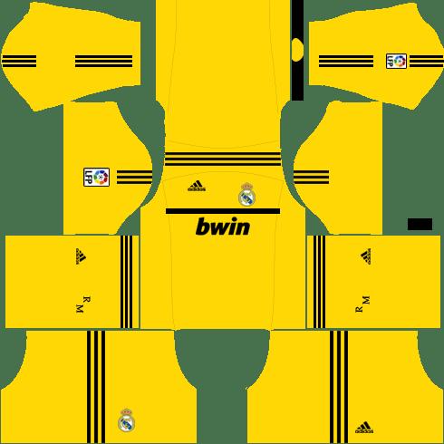Real Madrid Goalkeeper Home Kit 2011-2012