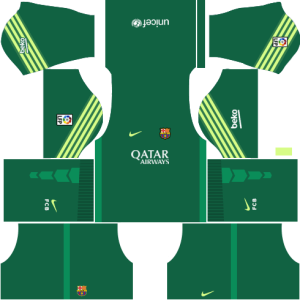 Barcelona Goalkeeper Home Kit 2015-2016