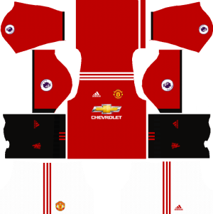 Manchester United Home Kit Dream League Soccer 2017-2018