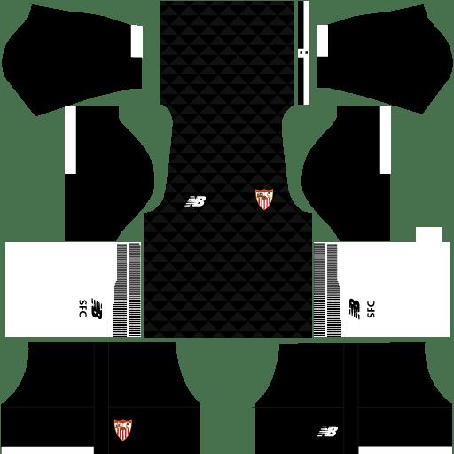 Sevilla Goalkeeper Home Kit 17-18 for Dream League Soccer