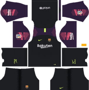 Barcelona Goalkeeper Away Kit 2018-19 Dream League Soccer Kits URL 512x512