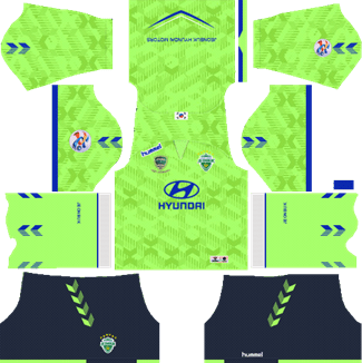Jeonbuk Hyundai Motors FC AFC Home Kit 2019 - DLS 19 Kits - Dream League Soccer Kits URL 512x512