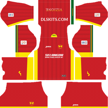 Selangor 2019 Kit Home - DLS Kits - Dream League Soccer Kits 5112x512 URL