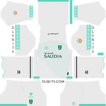 Al-Ahli Saudi FC Home Kit 2019 - DLS 19 Kits - Dream League Soccer Kits URL