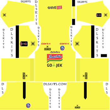 Arema FC Goalkeeper Home Kit 2019 - DLS 19 Kit - Dream League Soccer Kits URL