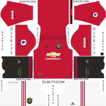 Manchester United Home Kit 2019-20 - DLS 19 Kits - Dream League Soccer Kits URL