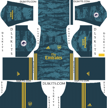 Dream League Soccer Kits Arsenal Goalkeeper Home Kit 2019-2020