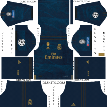 UCL Real Madrid Away Kit 2019-20 Dream League Soccer Kits