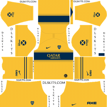 Dream League Soccer Kits Boca Juniors Away Kit 2019-2020