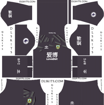 Dream League Soccer Kits Burnley FC Goalkeeper Home Kit 2019-20