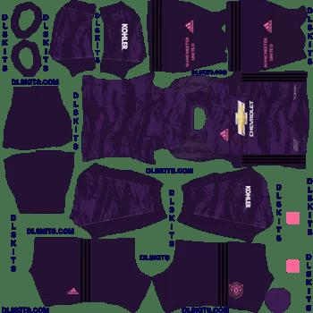 Manchester United 2019 Goalkeeper Home Kit Dream League Soccer 2020