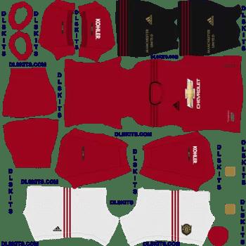 Manchester United 2019 Home Kit Dream League Soccer 2020