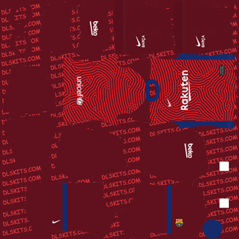Barcelona Goalkeeper Away Dream League Soccer 2020 Kits - DLS 20 Kits
