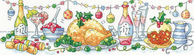 Christmas Dinner Cross Stitch Kit Only 1950