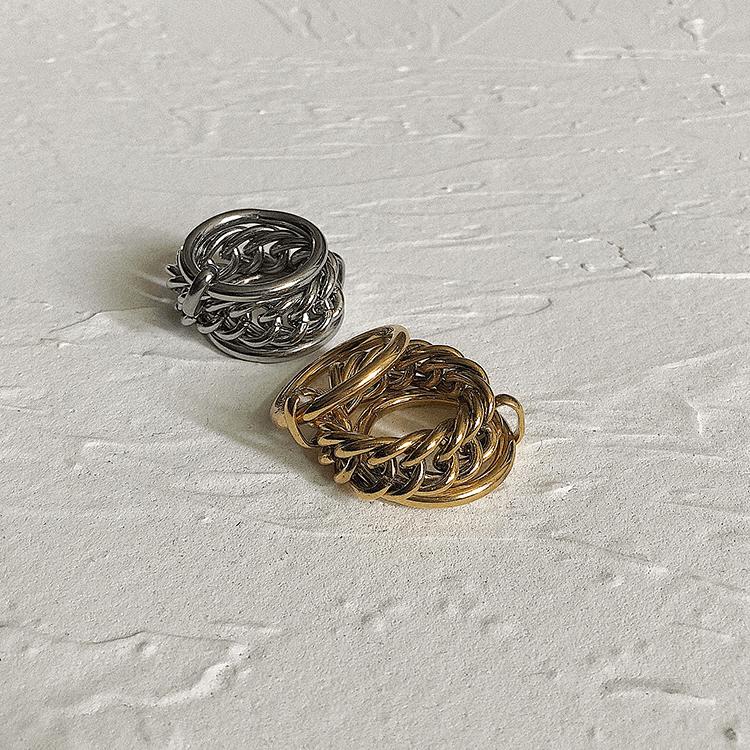 Кольцо SAZ Studio Rope Weave Ring Doubled