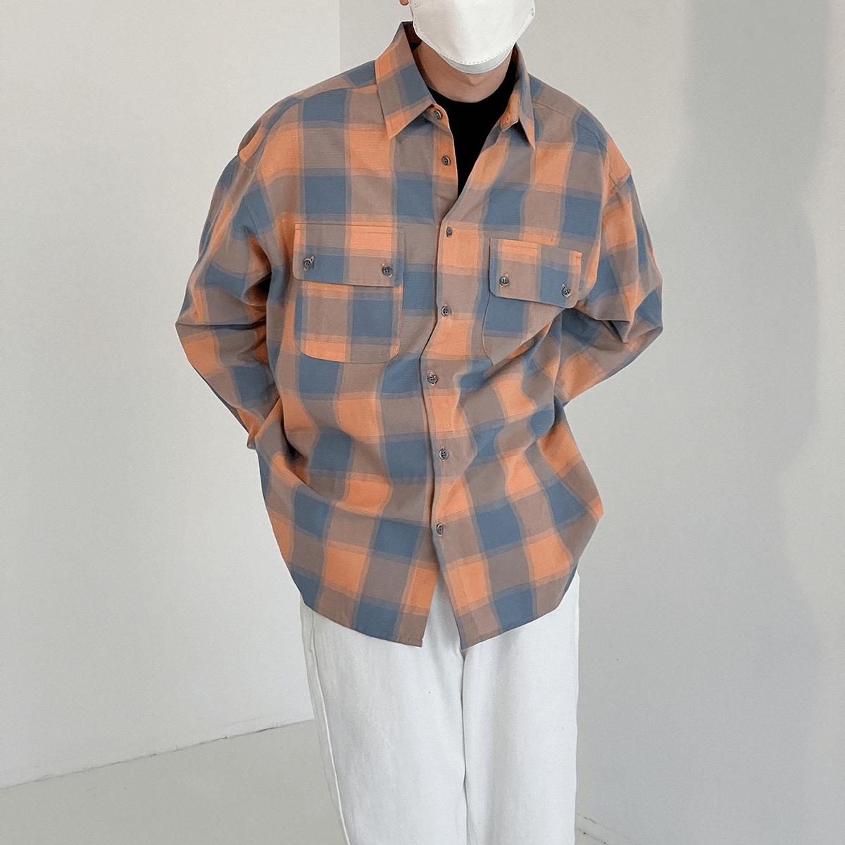 Рубашка DAZO Studio Plaid Double Pocket Shirt (4)