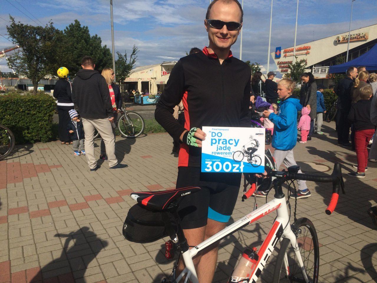 długi dystans rowerem - wygrana w loterii