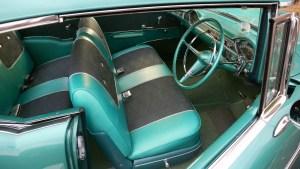 Banner -- 1957 Chevrolet interior.