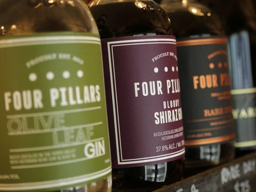 4 Pillars gins, Healesville.