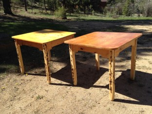The first two tables I completed