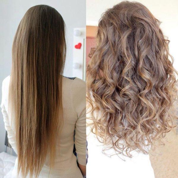 Крупная биозавивка волос: фото до и после (23 фото) - Для ...