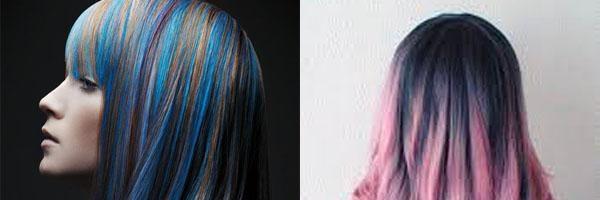 Цветные пряди на темных волосах (35 фото) - Для Роста Волос