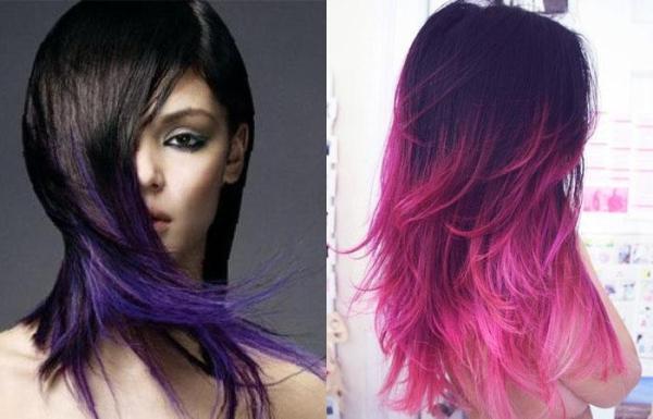 Цветные пряди на темных волосах (35 фото) 💇 Для Роста Волос