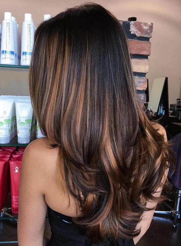 Светлые пряди на темных волосах (33 фото) - Для Роста Волос