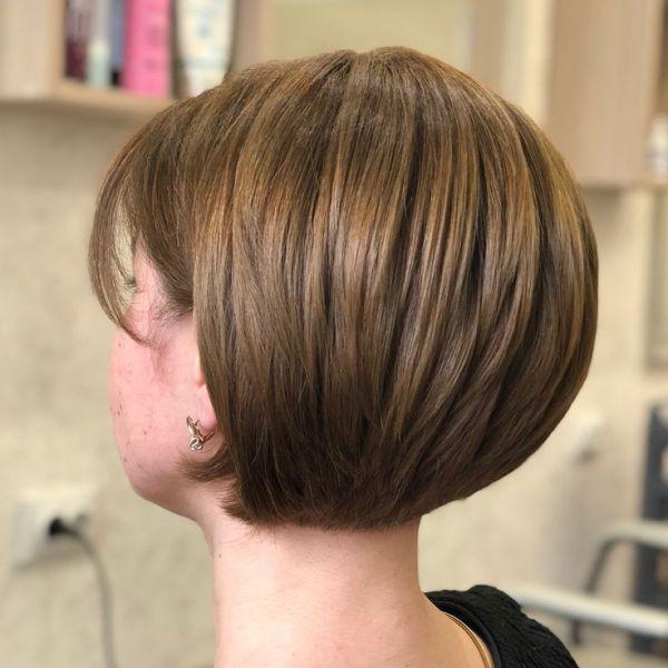Градуированный боб-каре на короткие волосы (30 фото) 💇 Для ...