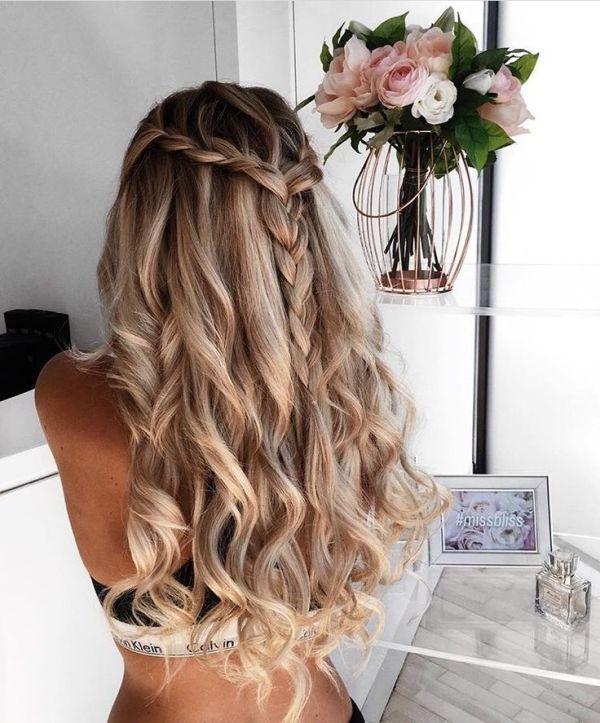 Прическа водопад на длинные волосы (30 фото) - Для Роста Волос