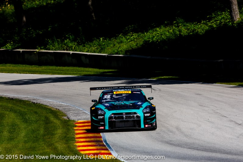 JD Davison in the #33 Always Evolving Racing Nissan GT-R-GT3
