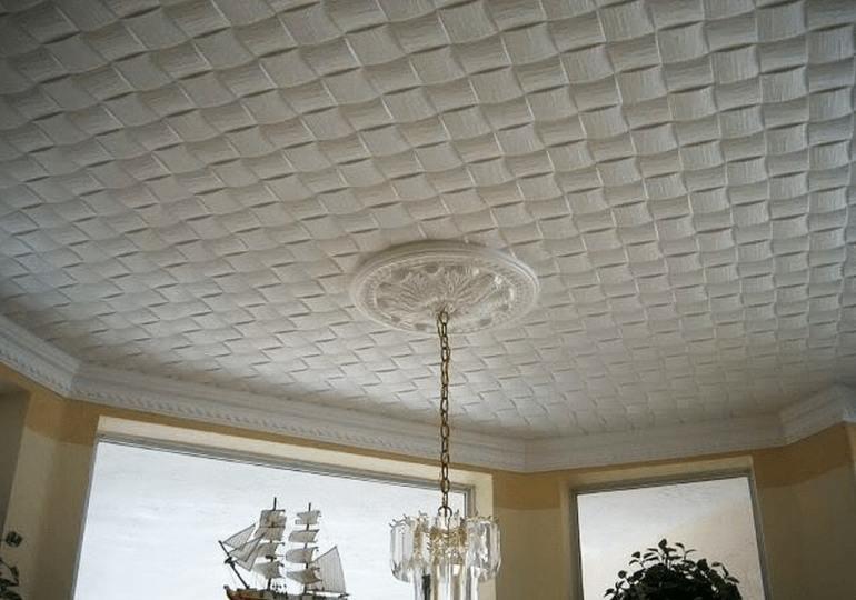 Особенности ухода за потолочной плиткой из пенопласта