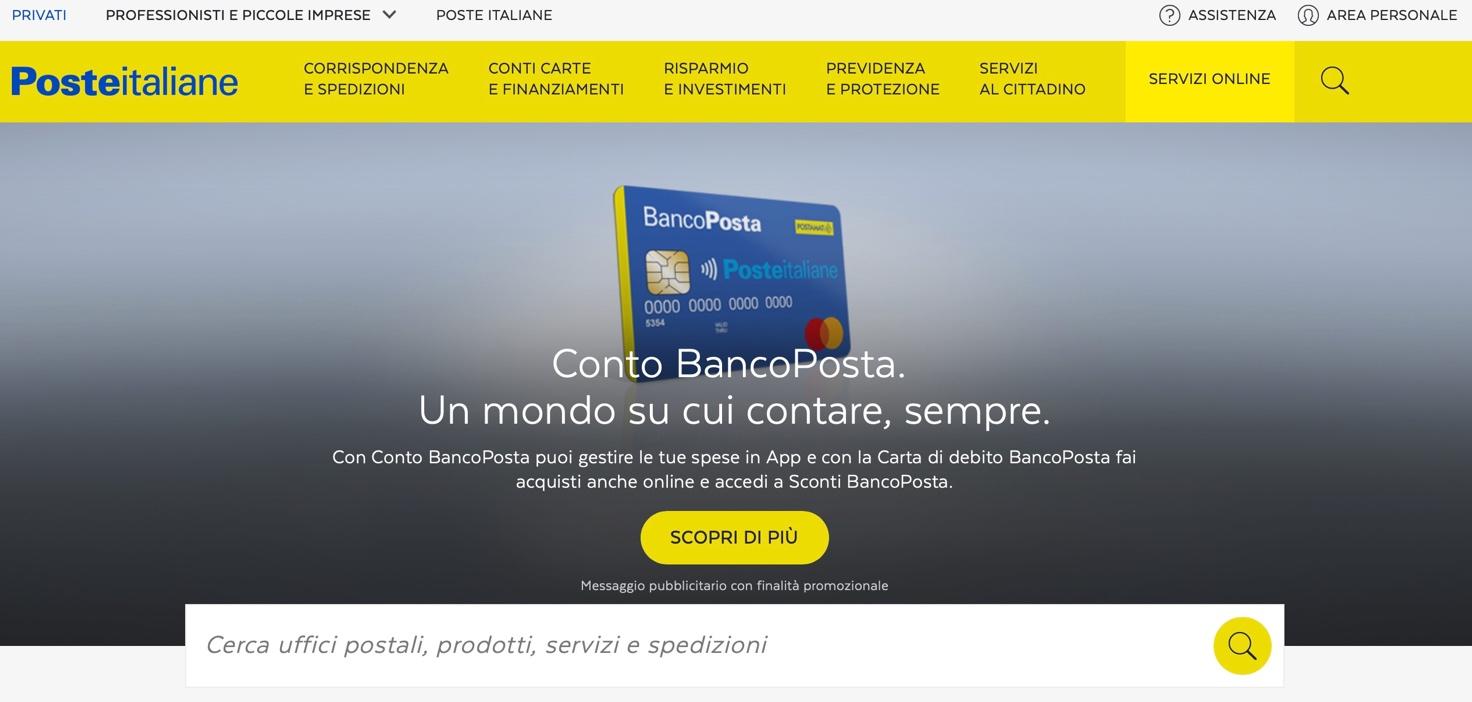 Poste Online Come Registrarsi Accedere A Bancoposta E