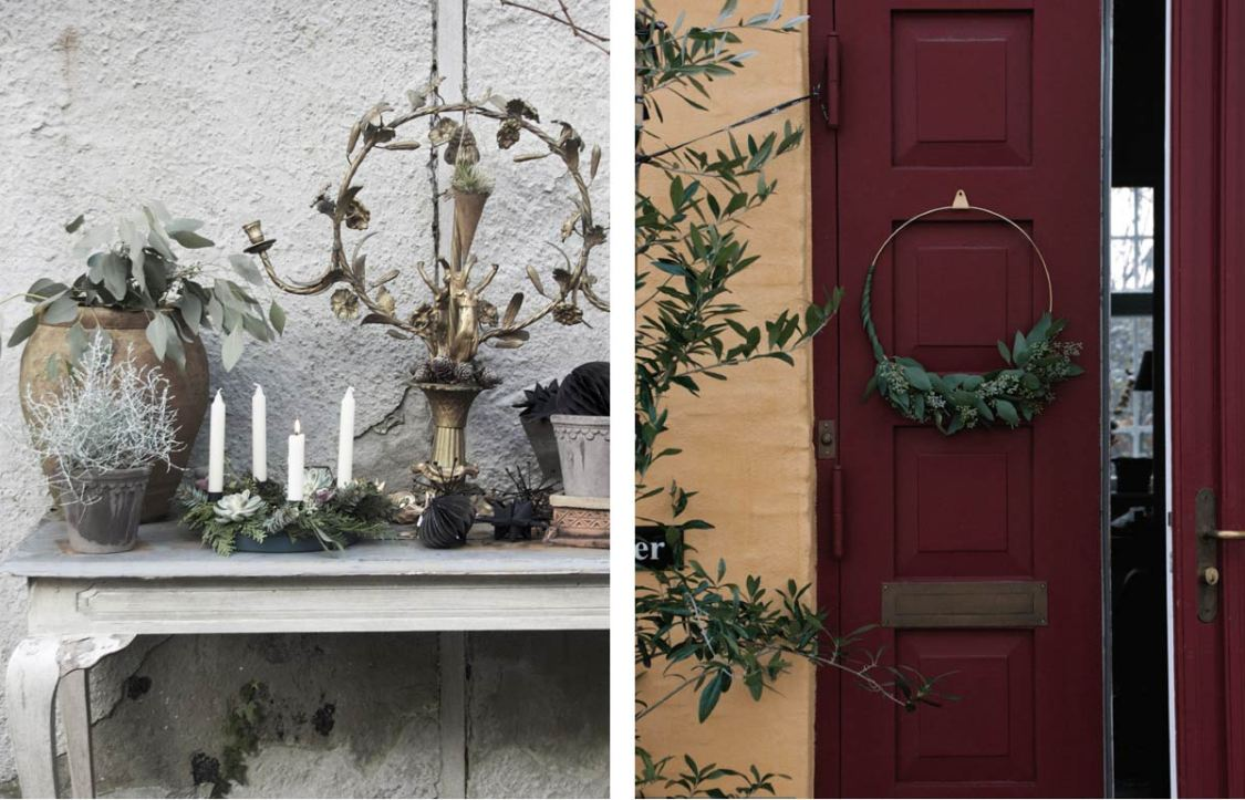 Danish Advent Candles and Christmas Wreaths
