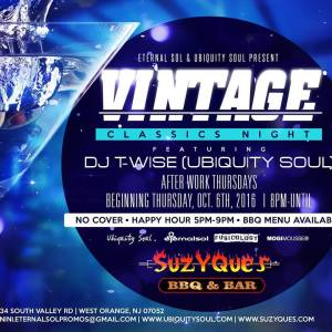 Vintage Thursdays f/DJ T-Wise (Ubiquity Soul)