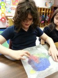 Creating color wheel paintings