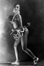 "Image of Josephine Baker in Banana Skirt from the ""La Folie du Jour"", 1927. Photo credit: Walery."