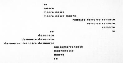 "Haroldo de Campos, ""nascemorre,"" 1958."