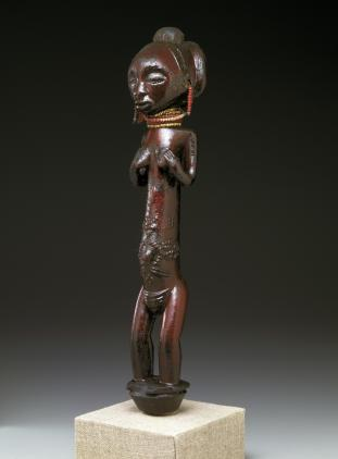 Standing Female Figure, Democratic Republic of the Congo, Luba People, late 19th-early 20th century, Dallas Museum of Art, The Clark and Frances Stillman Collection of Congo Sculpture, gift of Eugene and Margaret McDermott, 1969.S.96