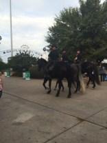Dallas police officers on horseback.