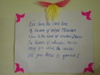 A sweet welcome message from our hosts, the monks and nuns who study at the College for Higher Tibetan Studies.