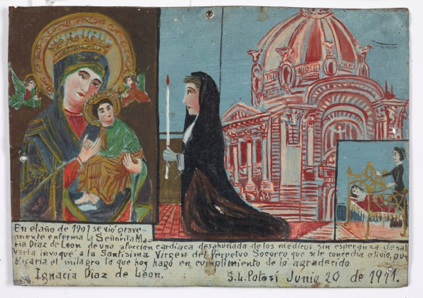 Retablo Dedicated by Ignacio Diaz de Leon, Latin American, June 20, 1911, Dallas Museum of Art, gift of Mr. and Mrs. Stanley Marcus Foundation
