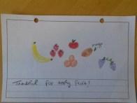 """Thankful for tasty fruit!"""